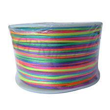 New Satin Rattail Cord Thread 1MM 100 yards Jewelry Making Cord Colorful Color