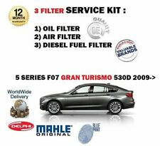 FOR BMW 530D GRAN TURISMO GT 3.0D F07 2009-  NEW OIL AIR FUEL FILTER SERVICE KIT