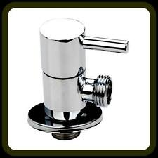 CHROME BRASS BIDET DOUCHE SHATTAF HAND SHOWER SPRAY HOLDER BRACKET & VALVE 1/2""