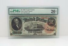 Series 1869 Large Size $2 Legal Tender US Note  PMG 20 Very Fine NET Fr#42