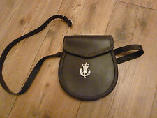 SCOTTISH REGIMENTS LEATHER SPORRAN PURSE WITH BADGE   BRITISH ARMY ISSUE