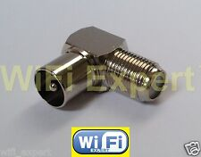 Right Angle DVB TV PAL Male Plug to F Type TV Female Jack RF adapter connector