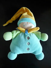 m / DOUDOU NOUNOURS GARCON LUTIN long bonnet-  bleu jaune vert grelot ETAT NEUF