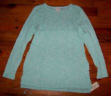 New! Women's ST. JOHN'S BAY Mint Green & White Speckled Long Sweater Size Large