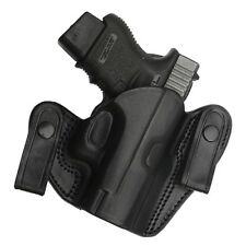 TAGUA BLACK LEATHER DUAL SNAP OPEN TOP IWB HOLSTER - SPRINGFIELD XD SUBCOMPACT