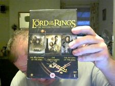 COMPLETE LORD OF THE RINGS TRILOGY DVD BOXSET GREAT GIFT FREE UK POST