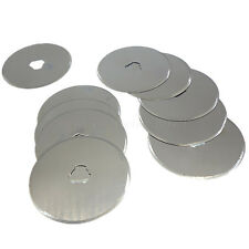 10pc 45mm Rotary Cutter Circular Spare Blades Quilters Sewing Fabric Leather Cut