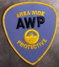Embroidered Police Patch AWP Area Wide Protective NEW