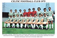 CELTIC F.C.TEAM PRINT 1975 (DALGLISH/LENNOX/DEANS/RITCHIE)