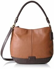 NWT Tignanello Braided Beauty Hobo, Cognac/Dark Brown, T56315, MSRP: $159.00