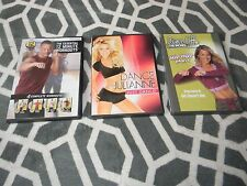 LOT OF 3 WORKOUT DVDS, DANCE WITH JULIANNE/DANCE OFF INCHES/12 MINUTE WORKOUTS
