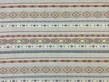 NAVAJO STRIPE DOUBLE WIDTH BLACK MUSTARD H9 AZTEC CURTAIN UPHOLSTERY FABRIC