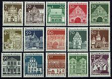 489-503 **  BRD 1966-69,  Deutsche Bauwerke (Großformat)