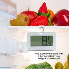 White Digital Electronic Freezer Fridge Room Thermometer With Magnet Hook /
