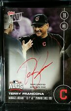 TERRY FRANCONA ON-CARD AUTOGRAPH 22/25 MANAGES INDIANS WORLD SERIES TOPPS NOW