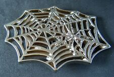 Black Spider Web Widow Man Gothic Punk Belt Buckle  Boucle de Ceinture