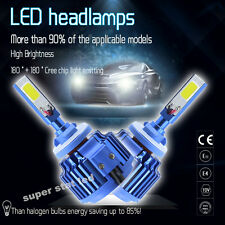 2x H3  80W 8000LM CREE Car COB  LED Headlight Kit Beam Bulbs  6000K High Power