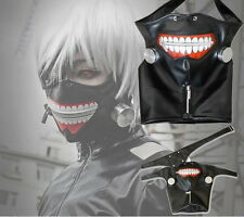 Cosplay Tokyo Ghoul Kaneki Ken Adjustable Zipper Masks PU Leather Cool Mask NA