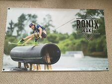 "RONIX MASSI BANNER NEW! 48"" * 30"" 2 Free Ronix Wakeboard Stickers Decal"