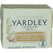 Oatmeal & Almond Bar Soap by Yardley London for Unisex - 2 x 4.25 oz Soap