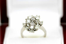 Exceptional Diamond Engagement Cluster Ring 18ct White Gold Ladies Size K A20