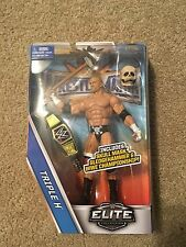 Triple H WWE Mattel Elite Wrestlemania 33 Series Figure With Sledge And Skull