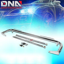 """49"""" STAINLESS RACING PROTECTION SAFETY SEAT BELT CHASSIS HARNESS BAR ROD CHROME"""