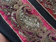 """2"""" (51mm) Wide Paisley Net Trim/Lace Ethnic Indian Design - Braid/Gimp - 1m"""