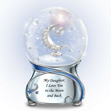 My DAUGHTER, I Love You To The Moon and Back MUSICAL Snowglobe NEW