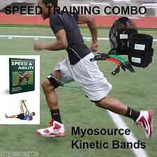 Speed Training Combo Leg Resistance Bands and DVD Myosource Kinetic Bands