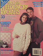 VTG 91 McCalls NEEDLEWORK & CRAFTS Book Winter Whites~Sweaters~Afghans~Quilts ++