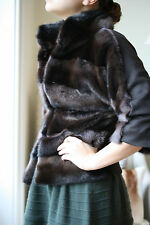 VICEDOMINI BROWN MINK & CASHMERE FUR JACKET XS FR 38 UK 10 US 6 IT 42