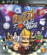 Buzz! Quiz World Video Game Only For Sony PlayStation 3 Free Shipping