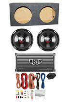 "2 BOSS P106DVC 10"" 4200W Car Subwoofers + Sealed Box+ 2-Ch Amp + 8 Gauge Amp Kit"