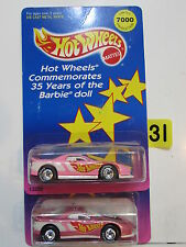 HOT WHEELS 1994 35TH ANNIVERSARY BARBIE DOLL FIRST AND SECOND ISSUE VARIATION