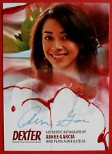 DEXTER - Series 5 & 6 - AIMEE GARCIA Autograph Card - AAG1 - GREEN INK VARIANT