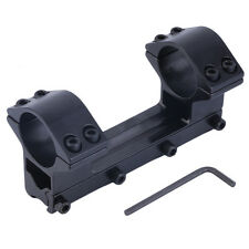1'' Integrated Dual Ring Round Top Dovetail Torch Scope Mount 11mm Rail LE