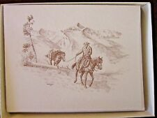 Horse Packing Boxed Note Cards with 10 Cards 10 Envelopes per Box
