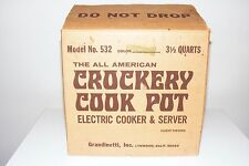 Vintage Rival Crock Pot Crockery Slow Cooker Avocado Green, 3 1/2 Qt 532