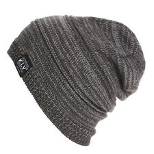 Men Slouch Skull Cap Oversize Beanie Women Baggy Cap Winter Crochet Knit Ski Hat