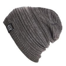 Men Slouch Skull Cap Oversize Beanie Women Baggy Cap Winter Crochet Knit Ski Hat