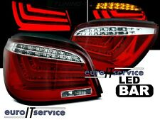 NUOVO COPPIA FANALI FARI POSTERIORI  LDBME8 BMW E60 2003-2007 RED WHITE LED BAR