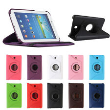 "NEU For Samsung Galaxy Tab3 7""Tablet T210 Rotating 360 Hülle PU Leder Case Cover"