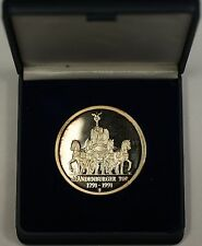 1991 Silver Medal 200th Anniv Opening of the Brandenburg Gate Langhans Schadow