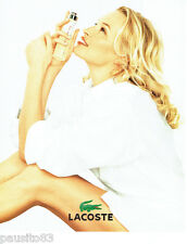 PUBLICITE ADVERTISING 026  2002  Lacoste  eau de toilette & Estelle Lefebure