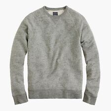 New J.Crew Mens Heather Gray Vintage Fleece Crew-Neck Pullover Sweatshirt L