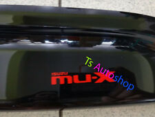 BLACK 4 DOOR VISOR RAIN WEATHER GUARDS FOR NEW ISUZU MU-X 2014 SUV