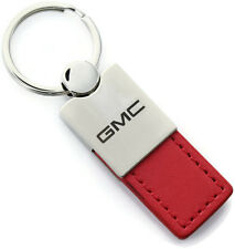GMC Sierra Terrain Acadia Red Leather Keychain Car Fob Key Ring Chain Lanyard