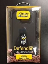 New OEM OtterBox Defender Series Case & Holster for Galaxy S7 Edge - BLACK