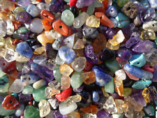 2 pack of semi precious gemstone colorful drilled chip mix great for crafts